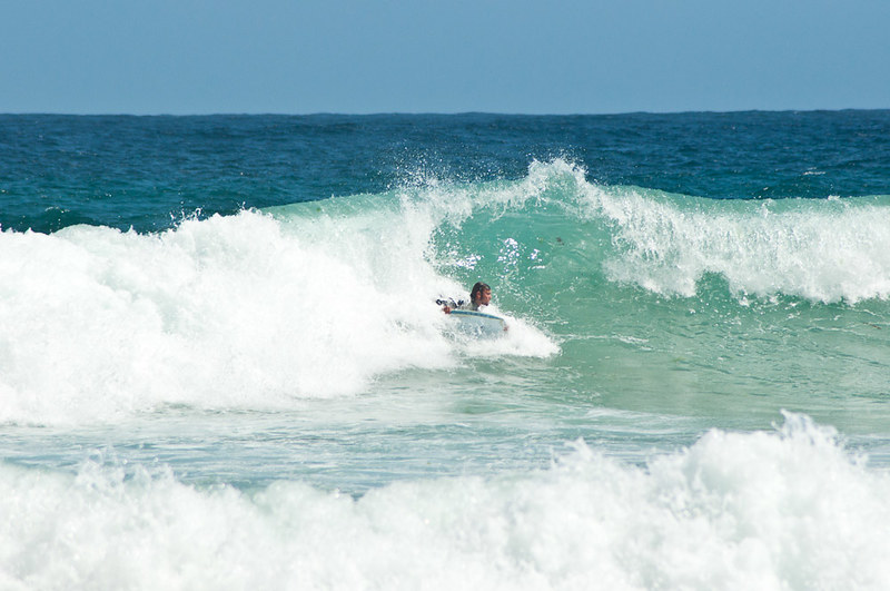 Surf en la playa de Malpica de Bergantiños