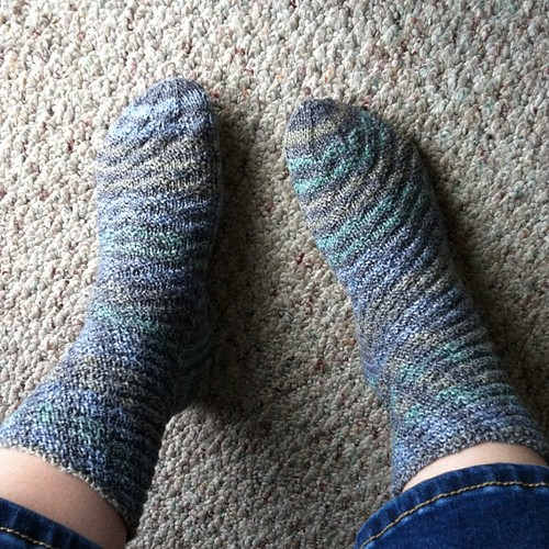 Day 4: Swap socks! Probably Sockotta, not sure what pattern. #norepeatdec