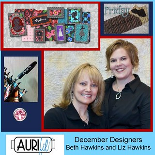 Aurifil December Desgners of the Month lizzie b cre8tive