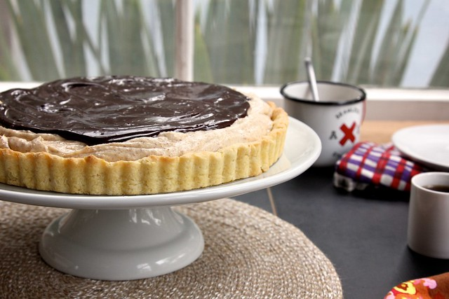 Honey Almond Butter Chocolate Tart