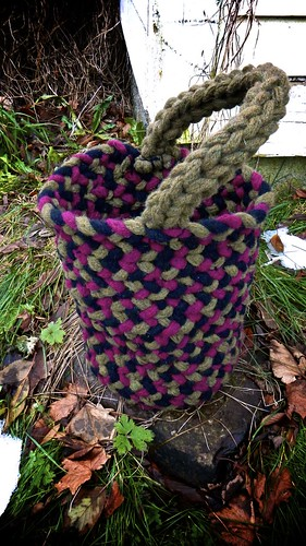 Finger Knit Basket 8