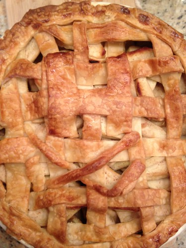 Apple Pie with H for Huber and Hockey Sticks