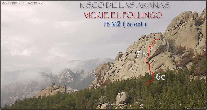 croquis VICKIE EL FOLLINGO 7B M2(6c OBL) - RISCO DE LAS ARAÑAS