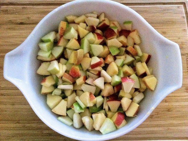 Diced Apple for Crumble Filling