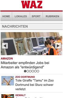 Neues WAZ/m.derwesten.de-Mobilportal: Startseite