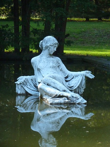 Statue in the pond