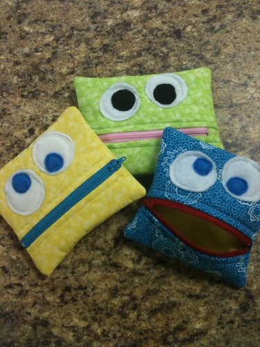 Monster zipper pouches