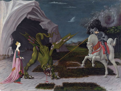 Paolo Uccello - Saint George and the Dragon [c.1470] by Gandalf's Gallery