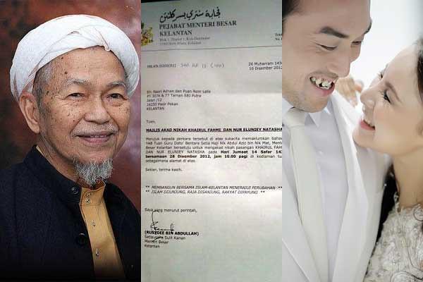 Khairul Fahmi Che Mat & Leuniey Akan Dinikahkan oleh Tuan Guru Nik Aziz
