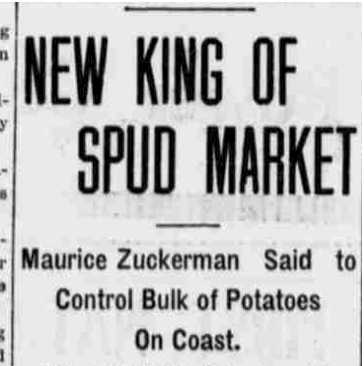oregon paper king of spud market crop