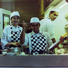 London - busy Pizza bakers