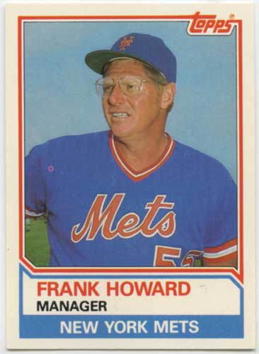 1983 Topps Traded Frank Howard