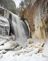 Winter at Miners Falls Pictured Rocks National Lakeshore by Michigan Nut