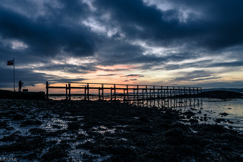 beach water clouds sunrise landscape scotland pier fife culross riverforth oldpier bryanburke
