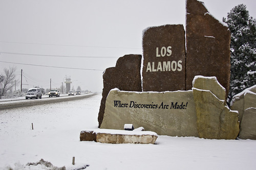 Los Alamos during snow storm