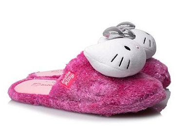 Hello Kitty Applique Slippers for Girls