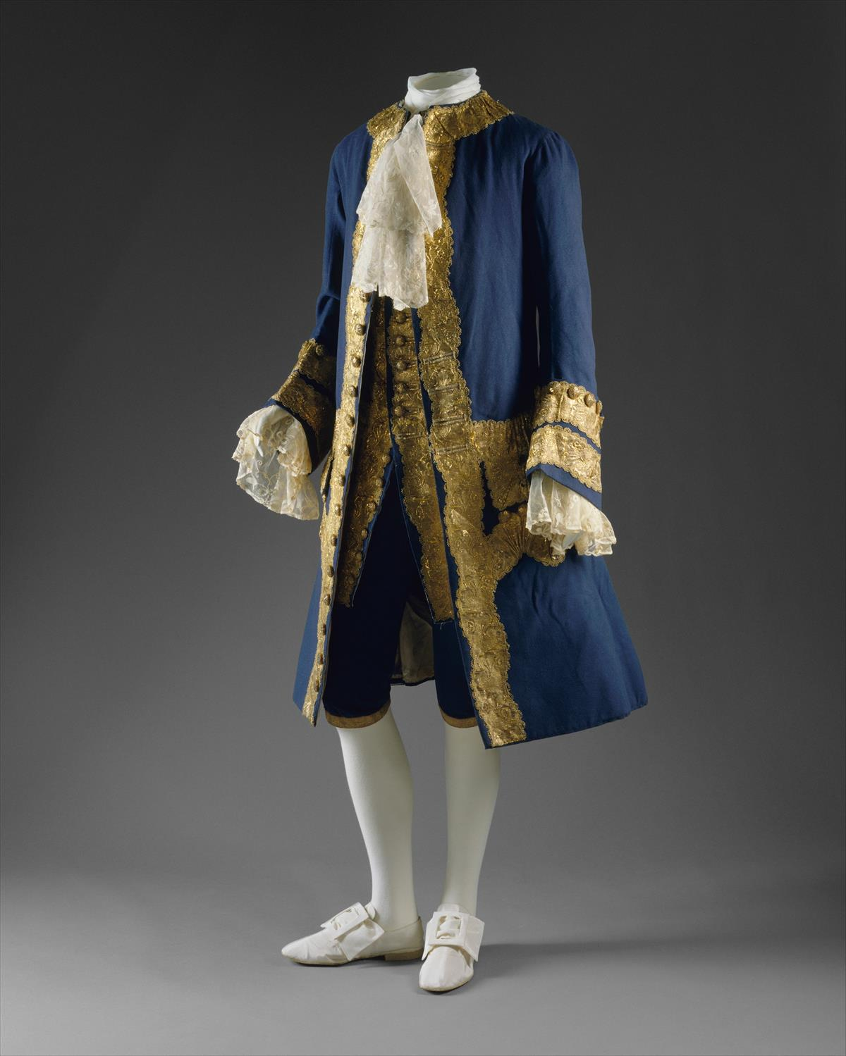 1760. British Suit. Wool, gilt metal. metmuseum