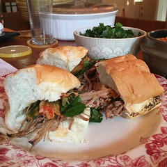Pulled pork sliders with perilla and kimchi = a very happy Joann