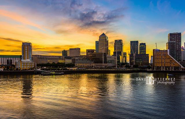 """Sunrise"" Canary Wharf, London, UK"