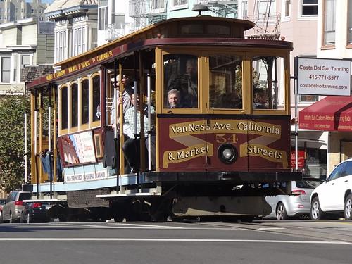 San Francisco Municipal Railway California Car 54 California Street at Hyde Street.