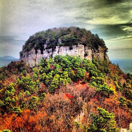 autumn sky orange brown mountain color fall leaves clouds northcarolina instagram