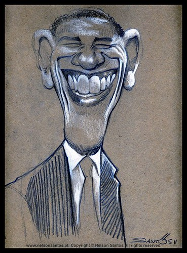 obama caricature by caricaturas