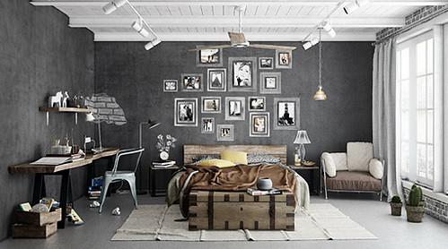 Diseño interiores estilo industrial