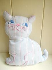Retro Striped Kitty