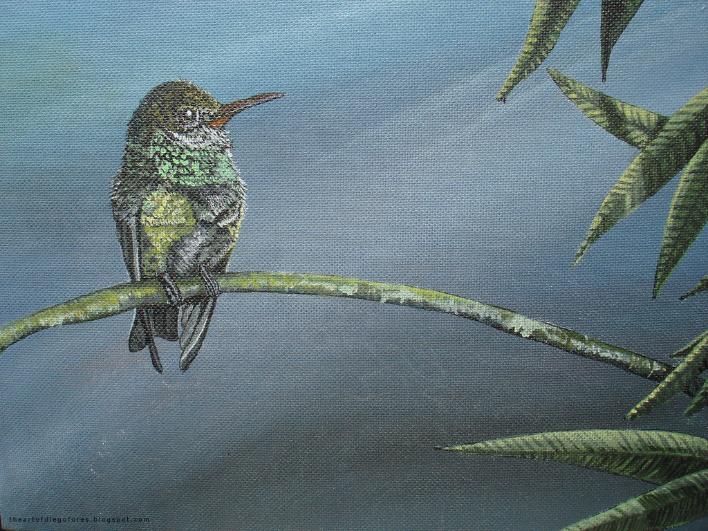 acrylic painting - bird 004
