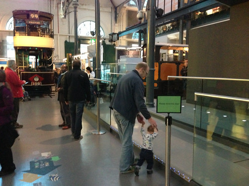 Walking practice at the London Transport Museum
