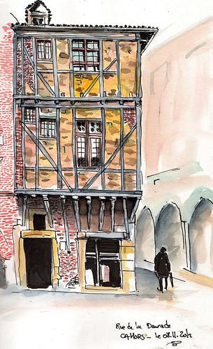 Rue de la Daurade - Cahors by Stéphane Feray