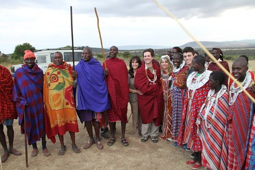 8176351473 4d9e480128 Guests Renew Vows in a Traditional Maasai Wedding Ceremony