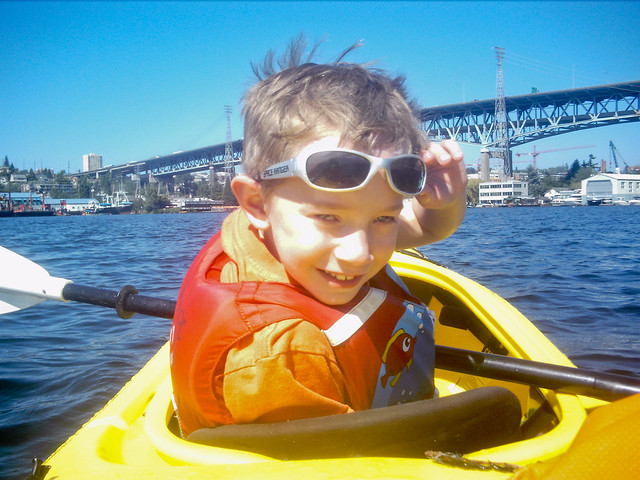 Anthony kayaking