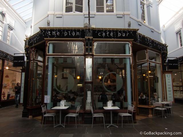 The Plan Cafe in the Morgan Arcade