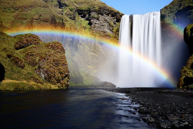 Double Rainbow at Skógafoss Iceland
