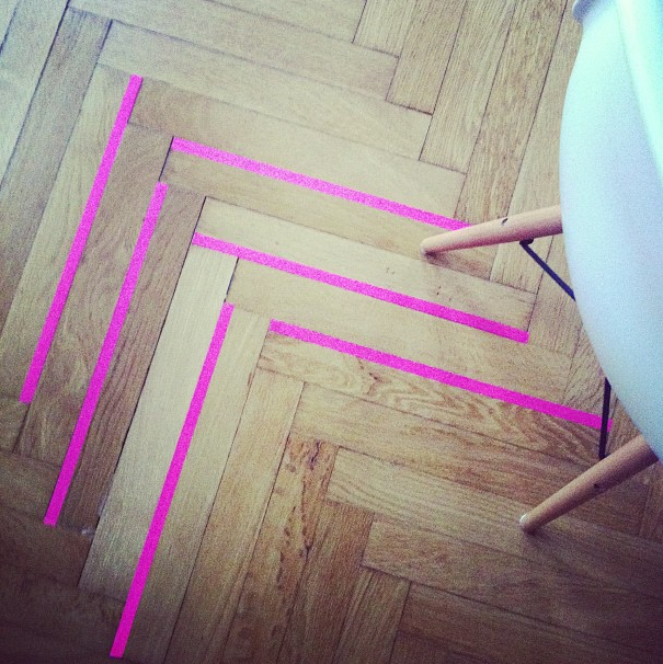 Washi tape on my floors