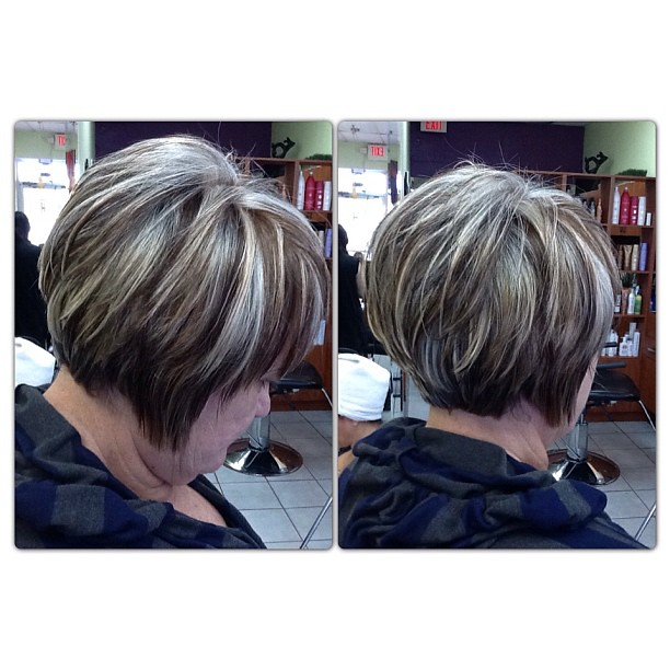 These are #highlights # lowlights on completely # gray hair | Flickr ...