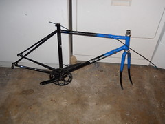 Stripped down to frame + fork + headset + octalink crankset (ugh)