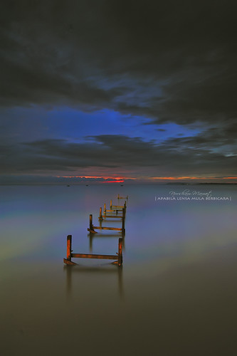 BLUE HOUR AT PASIR PANJANG BROKEN JETTY by nurshammamat