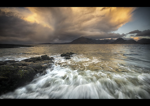 skye clouds sunrise photography scotland highlands nikon waves colours scottish cuillins isle elgol d3100