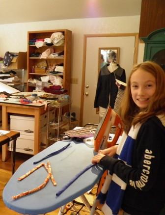 Ironing tubes for bag straps
