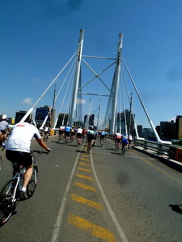 Crossing the Mandela bridge