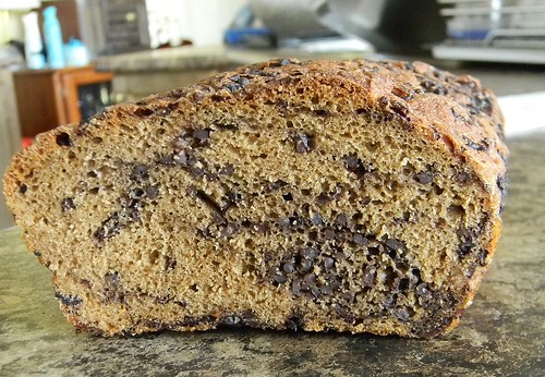Black Rice Bread Cutaway