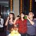 Avec M. He (Huiming, Yuzan) et sa femme dans un karaoke pour sa fête, Zhejiang