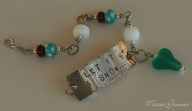 "Lampwork ""Let it Snow"""