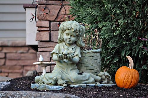Little Girl Garden Statue