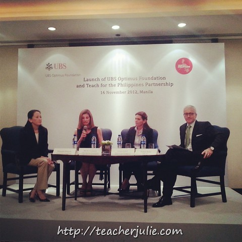 Teach for the Philippines and UBS Optimus Foundation presscon