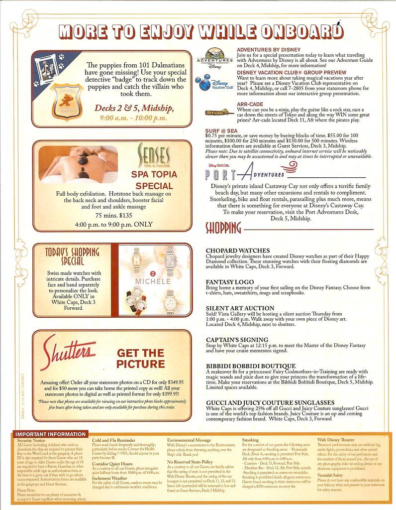 Disney Fantasy Personal Navigator - November 15, 2012 - Da
