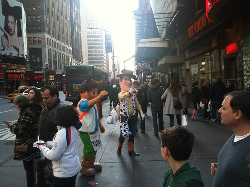 Woody and Diego at Times Square