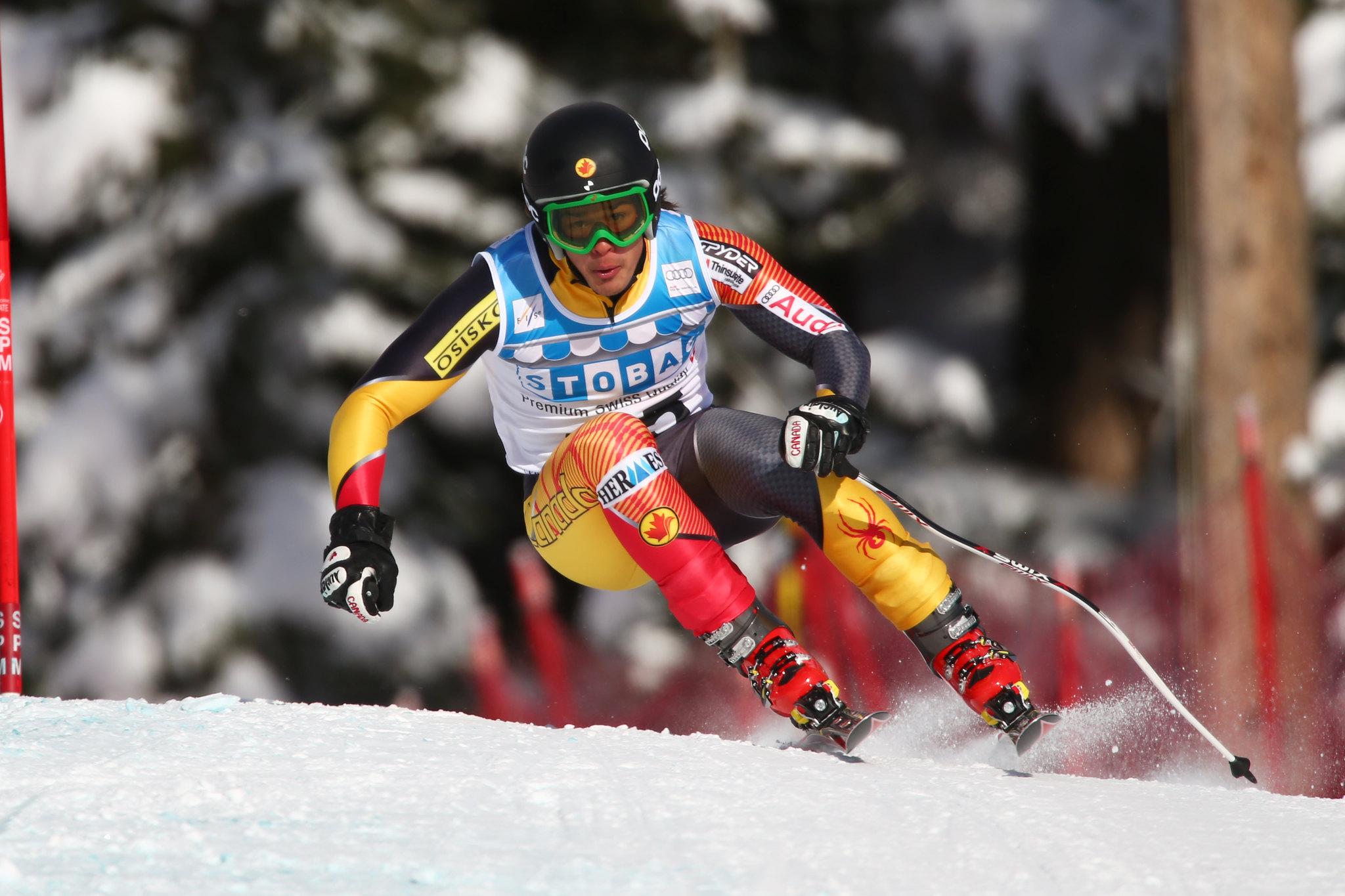 Morgan Pridy during the second downhill training run in Lake Louise (Nov. 2012)